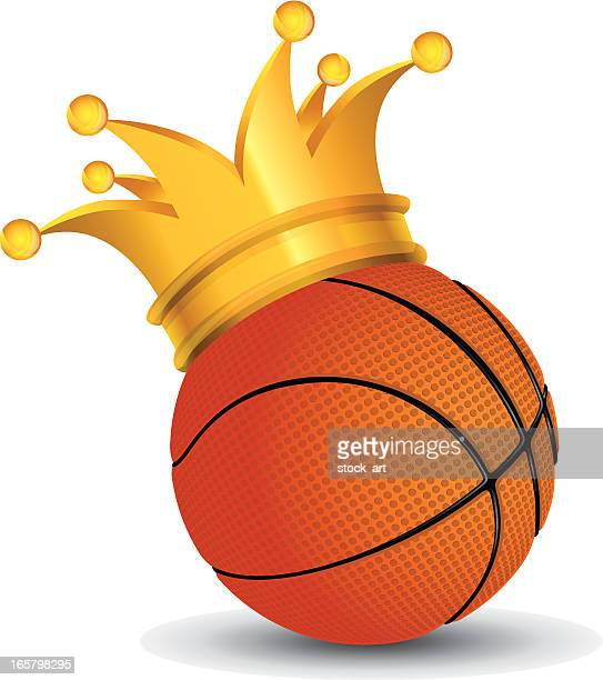Basketball Ball with a crown