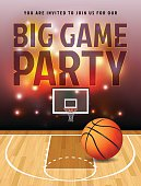 Basketball Big Game Party Illustration