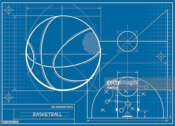 ilustraciones, imágenes clip art, dibujos animados e iconos de stock de bosquejo de baloncesto - cancha de baloncesto