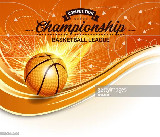 basketball burning - sports hall stock illustrations