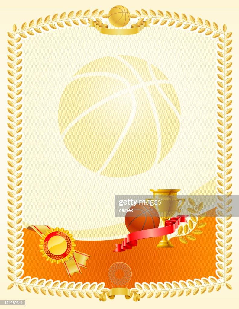 Basketball certificate award vector art getty images basketball certificate award 1betcityfo Choice Image