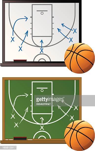 ilustraciones, imágenes clip art, dibujos animados e iconos de stock de chalkboard de baloncesto - educacion fisica