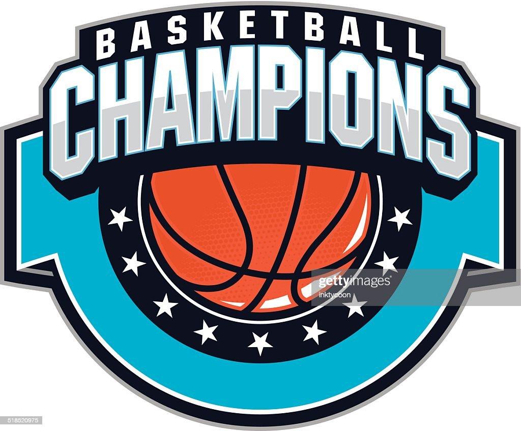 Basketball Champions Vector Art