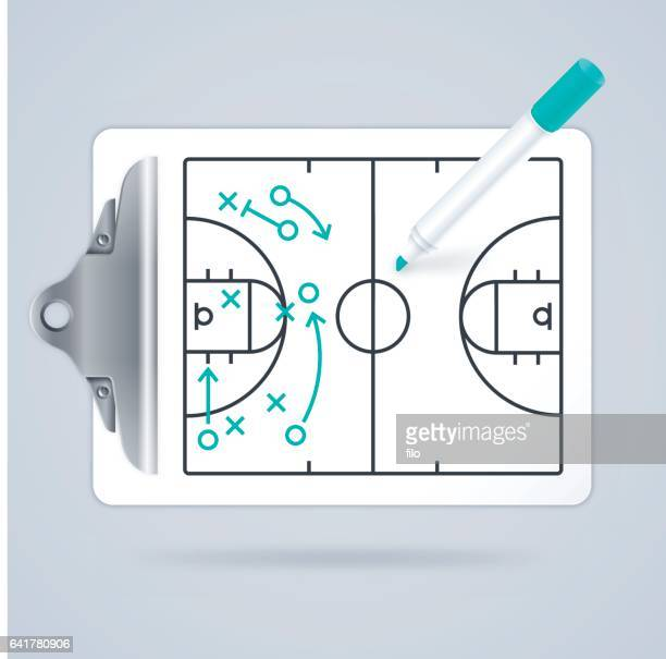 basketball clipboard play diagram - match sport stock illustrations, clip art, cartoons, & icons
