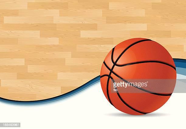 illustrations, cliparts, dessins animés et icônes de terrain de basket-ball en arrière-plan - ballon de basket