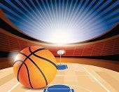 Basketball Court Stadium Side