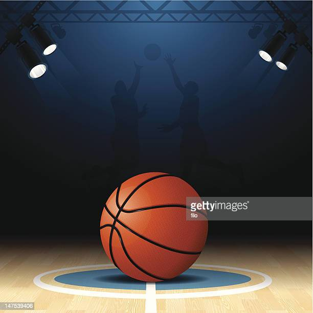 basketball court - basketball ball stock illustrations, clip art, cartoons, & icons