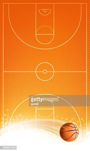 バスケットボールコート - ゴールを狙う点のイラスト素材/クリップアート素材/マンガ素材/アイコン素材