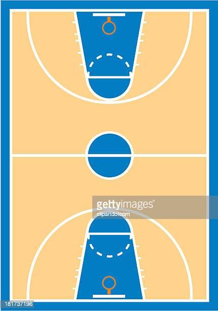 ilustraciones, imágenes clip art, dibujos animados e iconos de stock de cancha de básquetbol - cancha de baloncesto