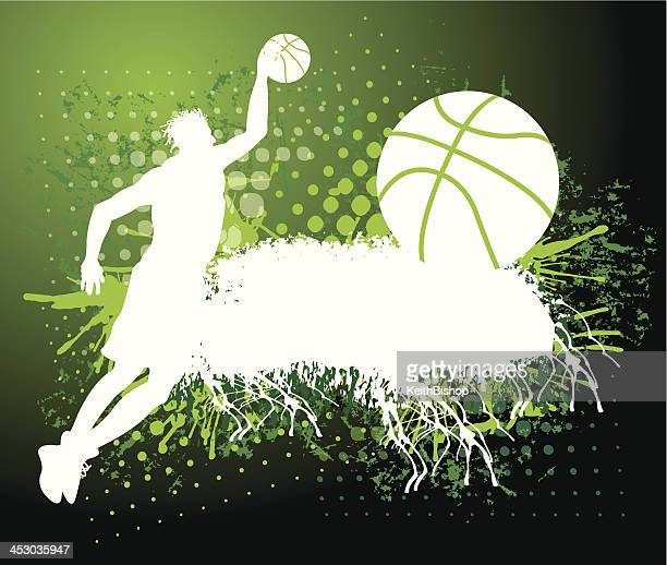 Basketball Dunk Grunge Background