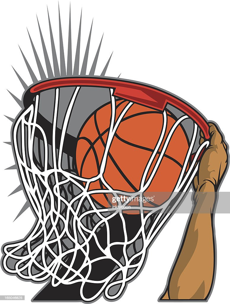 Basketball Dunk : stock illustration