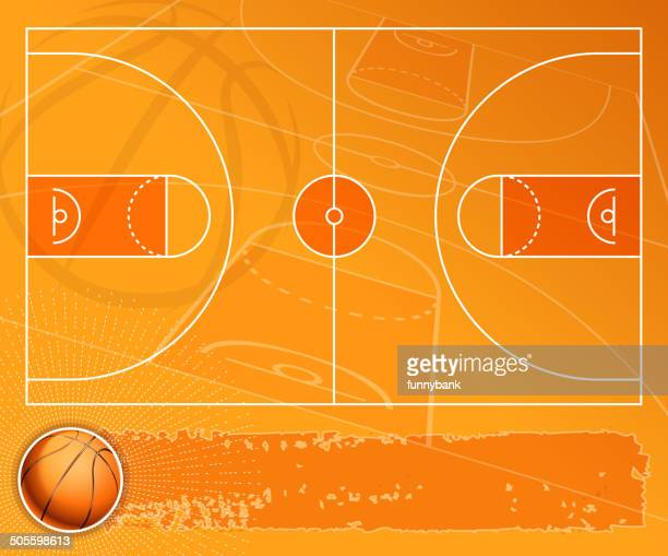 basketball field banner - basketball ball stock illustrations, clip art, cartoons, & icons