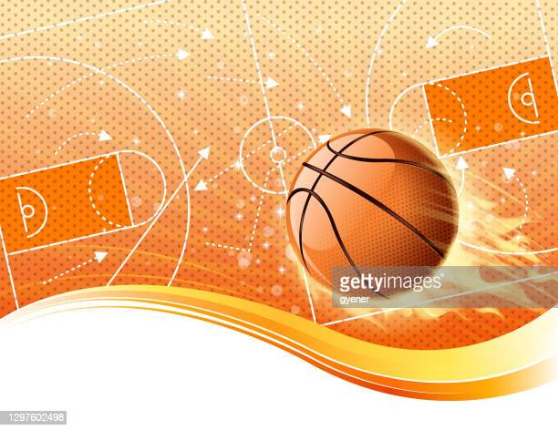 ilustrações, clipart, desenhos animados e ícones de campo de fogo basquete - fazer cesta