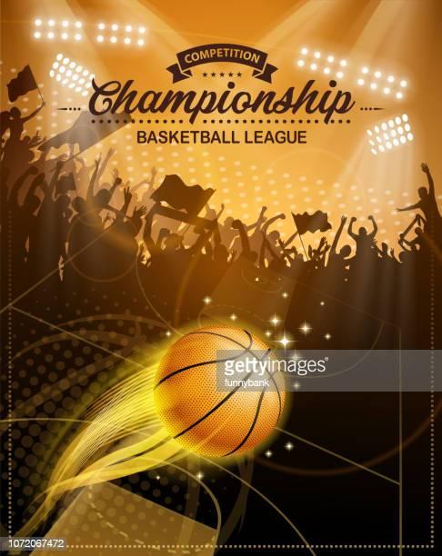 basketball fire - sports hall stock illustrations