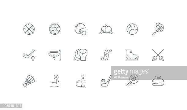 ilustrações, clipart, desenhos animados e ícones de basquete, futebol, futebol, esporte, ícones do voleibol. - combat sport