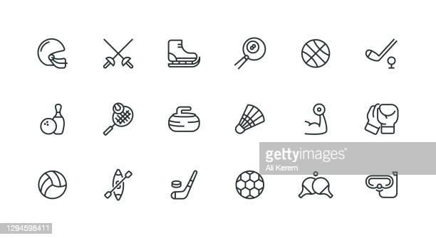 バスケットボール、サッカー、サッカー、スポーツ、バレーボールのアイコン。 - ラケットスポーツ点のイラスト素材/クリップアート素材/マンガ素材/アイコン素材