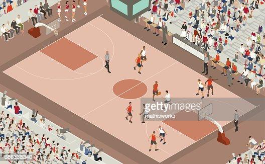 Basketball Game Illustration