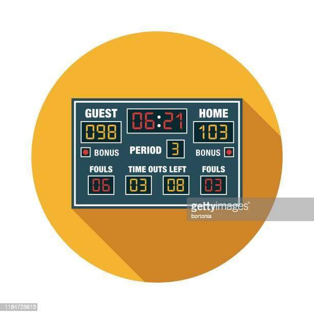 basketball game scoreboard icon - scoreboard stock illustrations