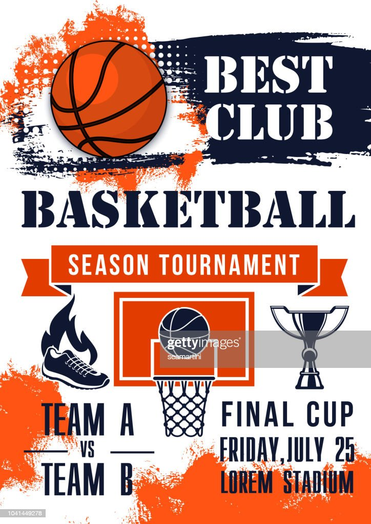 Basketball game tournament match banner