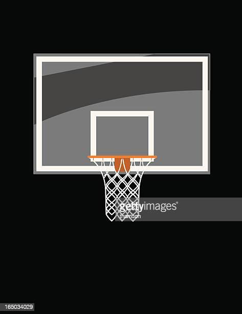 ilustraciones, imágenes clip art, dibujos animados e iconos de stock de vidrio tablero de baloncesto - canasta de baloncesto