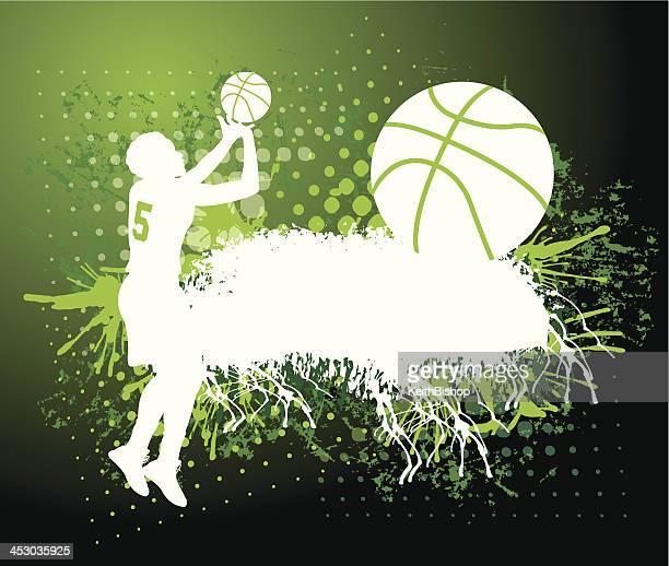 Basketball Grunge Background - Girls