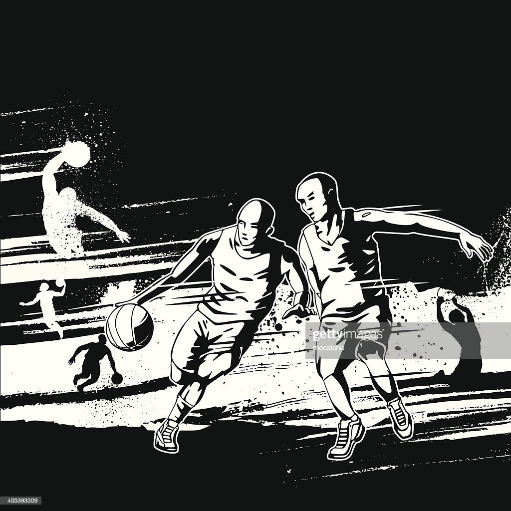Basketball Grunge Design : stock illustration