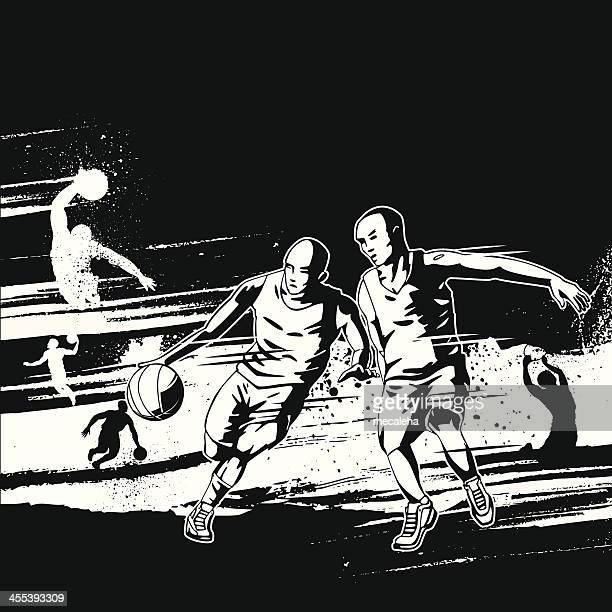 Basketball Grunge Design