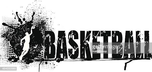 Basketball Grunge Graphic Background