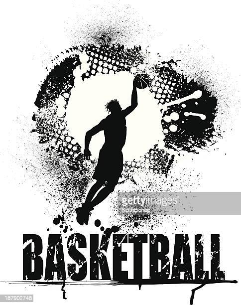 Basketball Grunge Graphic with Type - Male