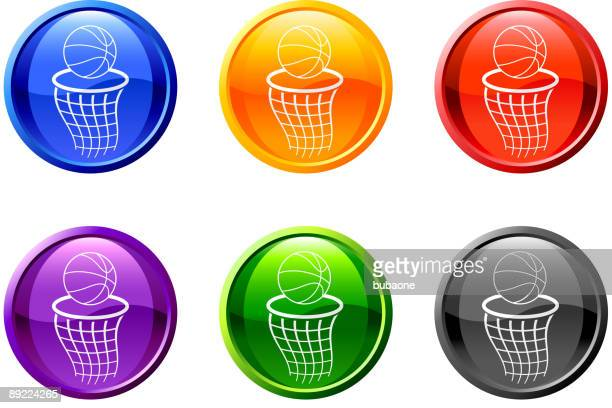 basketball hoop button royalty free vector art