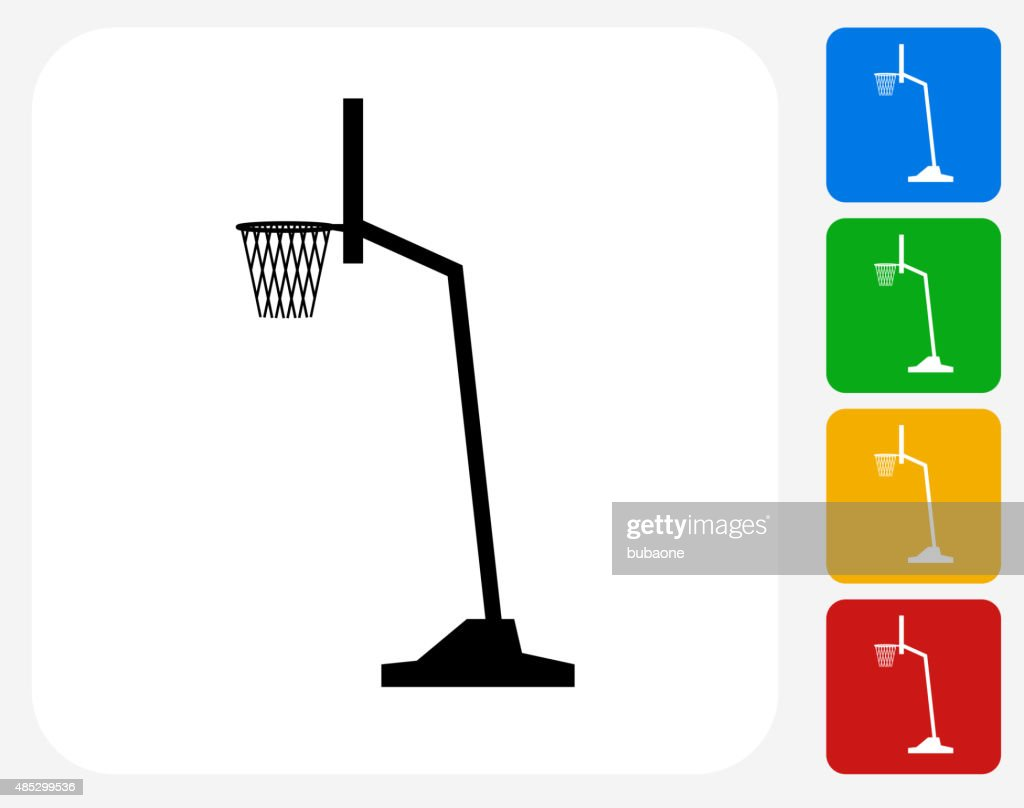 Basketball Hoop Icon Flat Graphic Design Vector Art Getty Images Diagram