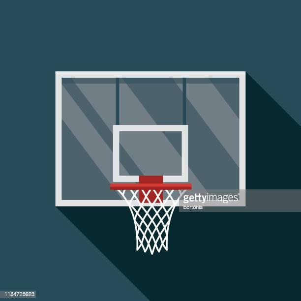ilustraciones, imágenes clip art, dibujos animados e iconos de stock de icono del aro de baloncesto - canasta de baloncesto