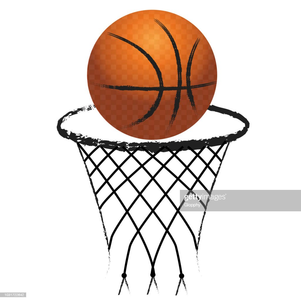 Basketball hoop sport logo icon vector image