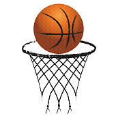 Basketball hoop sport logo icon vector image