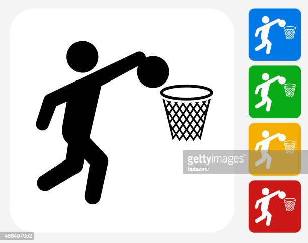 Basketball Icon Flat Graphic Design