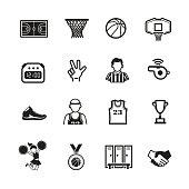 Basketball icon set, Vector
