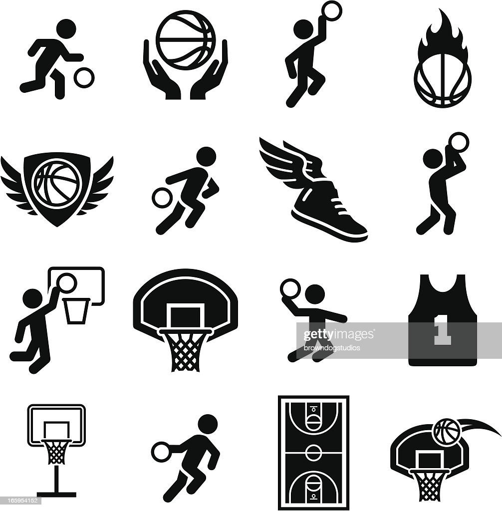Basketball Icons - Black Series