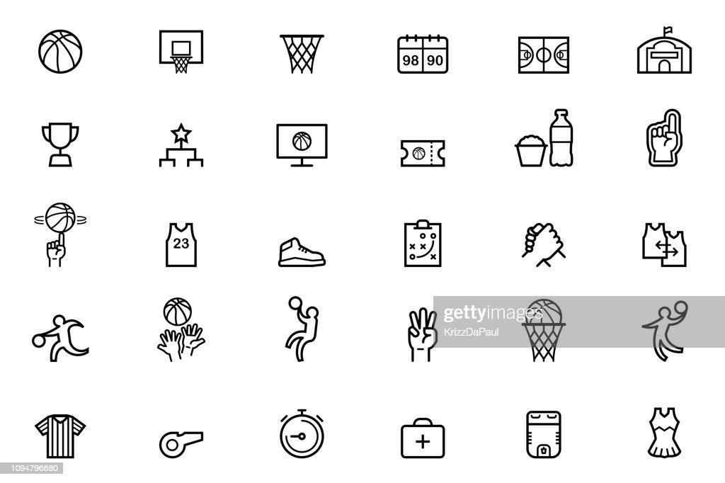 Basketball Icons : stock illustration