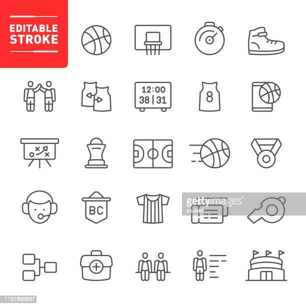 ilustrações, clipart, desenhos animados e ícones de ícones do basquetebol - uniforme de equipe