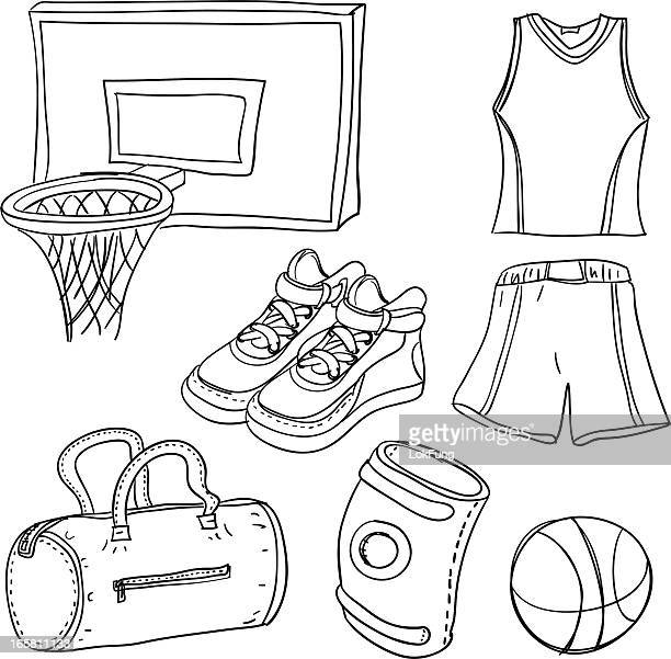 Basketball illustration in black white