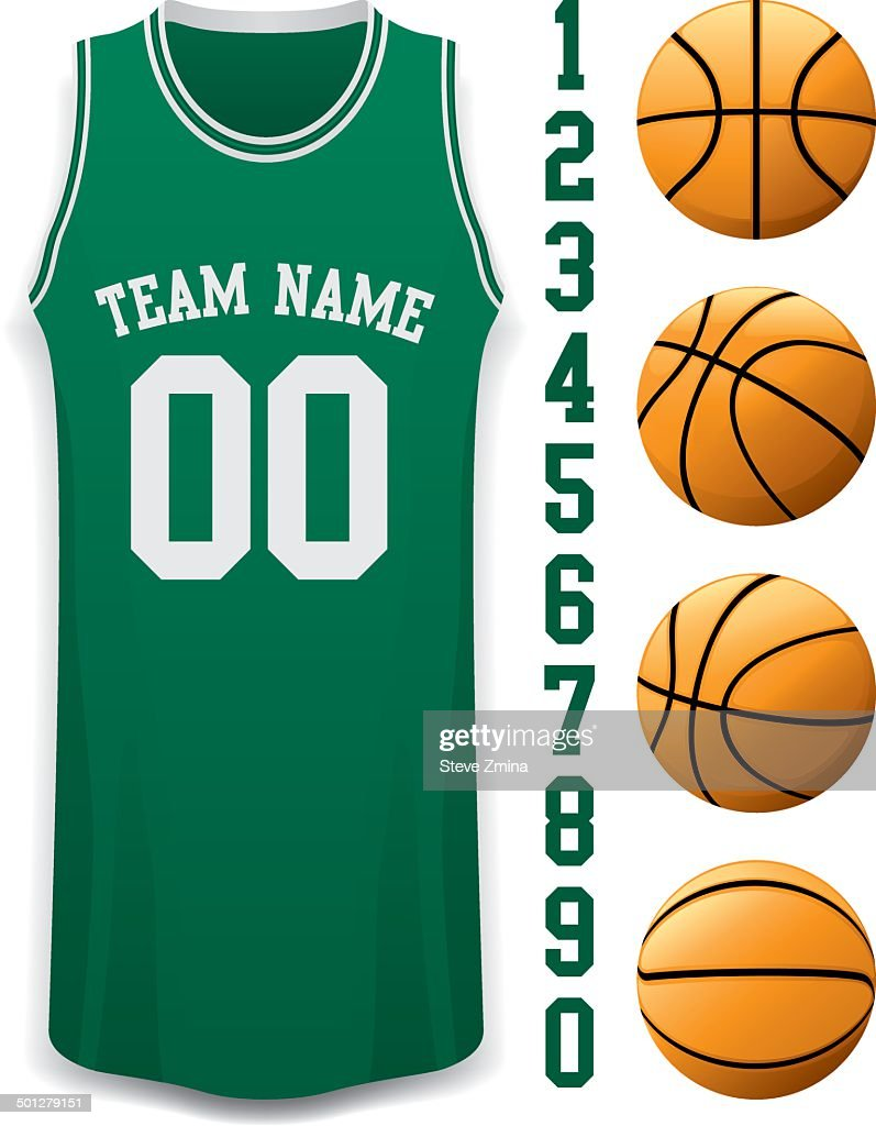 Basketball Jersey and Basket Balls
