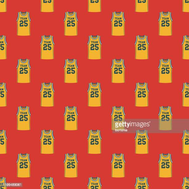 basketball jersey pattern - jersey fabric stock illustrations