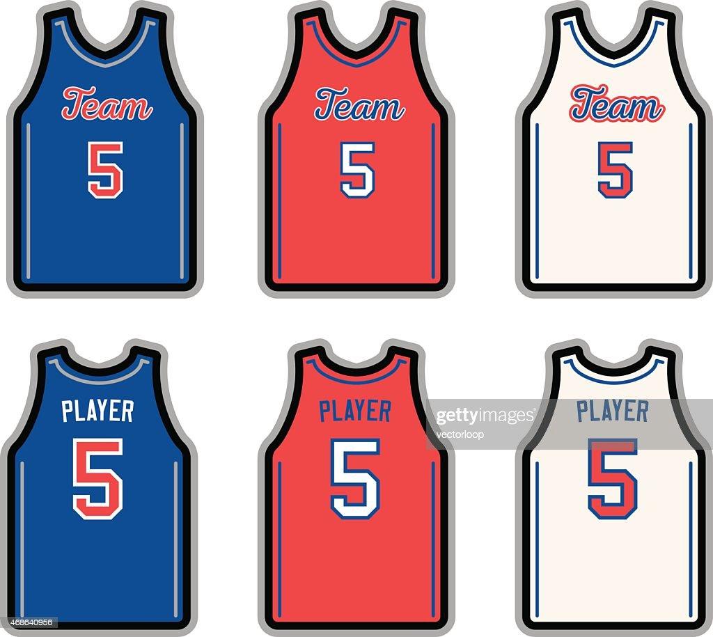 バスケットボールのジャージー : ストックイラストレーション