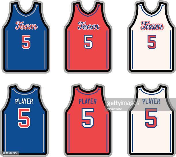 basketball jersey - tank top stock illustrations