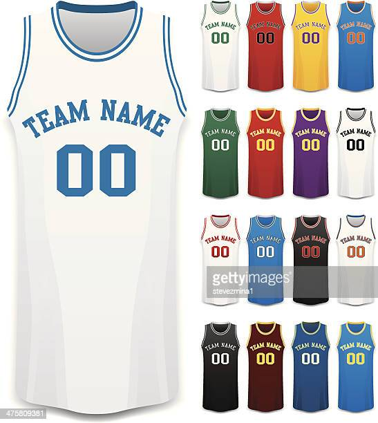 basketball jerseys - sports jersey stock illustrations