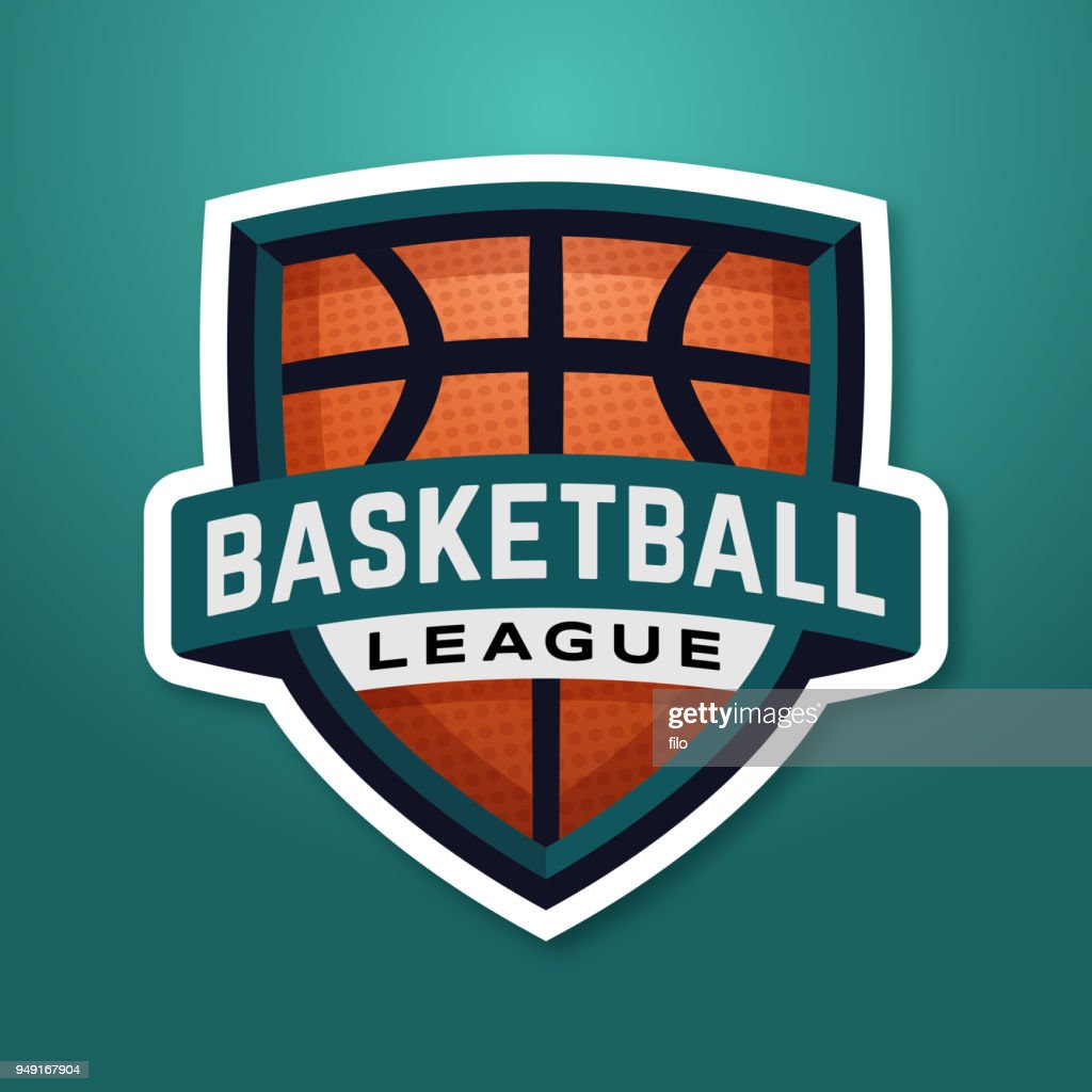 Basketball League Badge : stock illustration