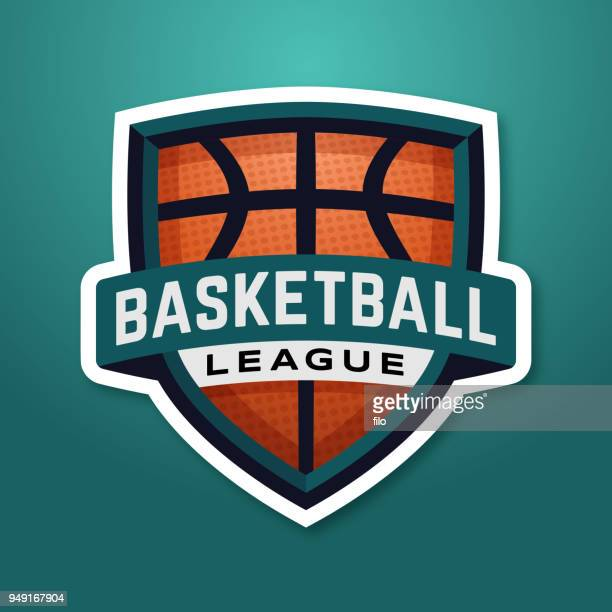 basketball league badge - match sport stock illustrations, clip art, cartoons, & icons