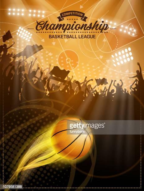 バスケット ボール リーグ ラベル - バスケットボール競技点のイラスト素材/クリップアート素材/マンガ素材/アイコン素材