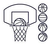 Basketball Line Symbols