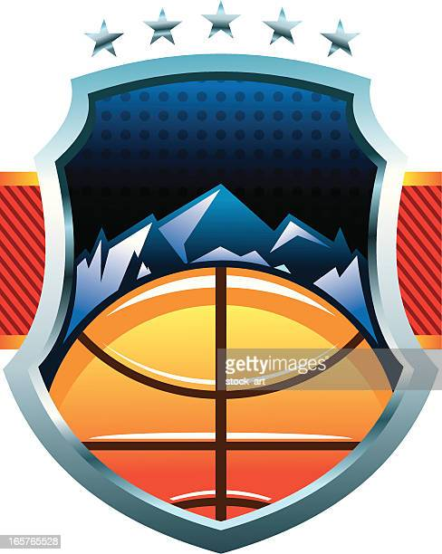 basketball logo - team sport stock illustrations